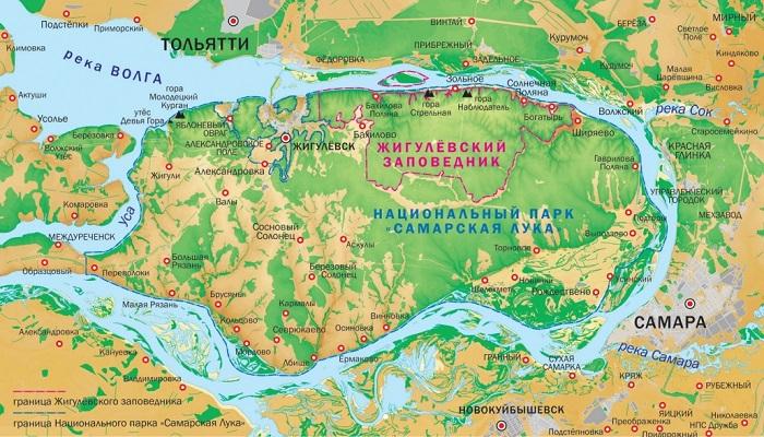 карта Самарская лука — копия