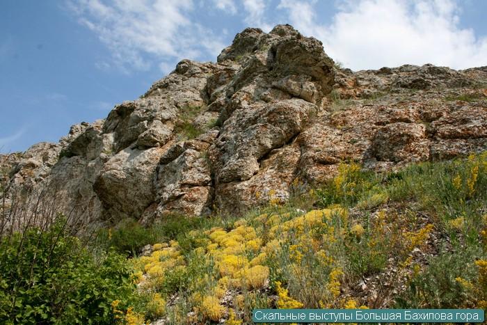 Скальные выступы Большая Бахилова гора.